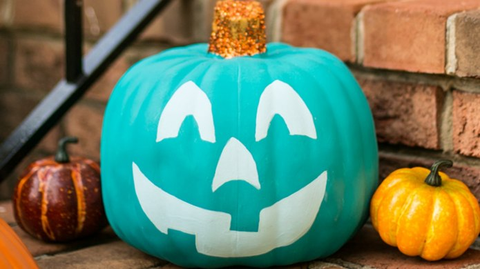 Paint Your Pumpkin Teal This Halloween
