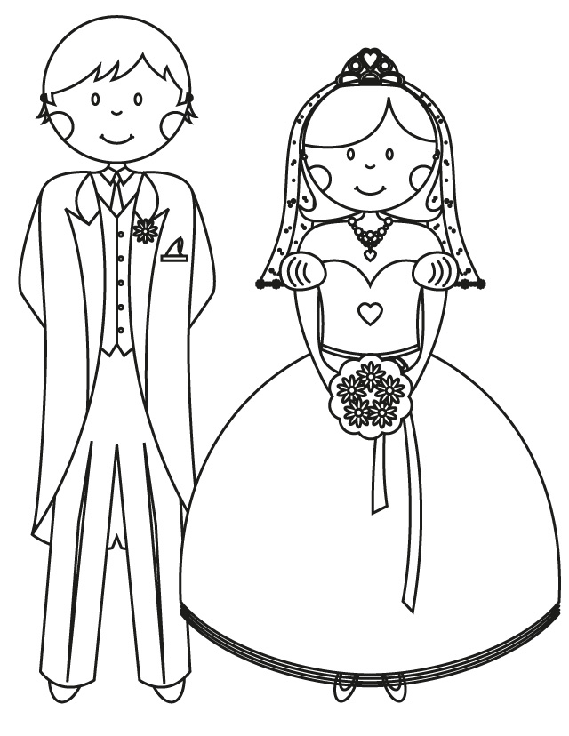 17 Wedding Coloring Pages For Kids Who Love To Dream About Their Big Day –  SheKnows
