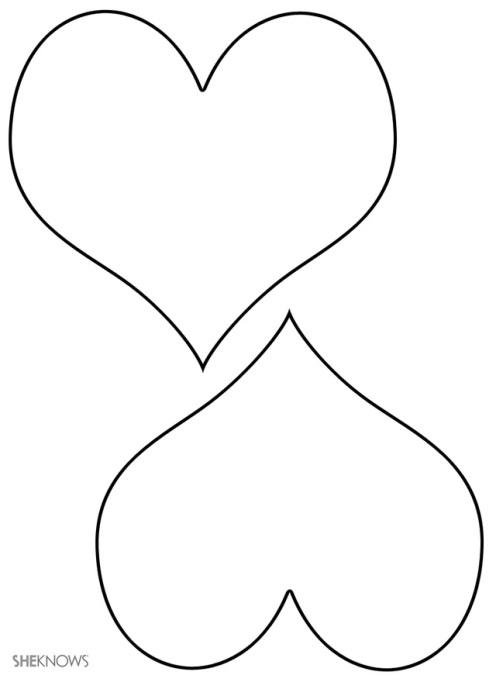 Craft template design hearts