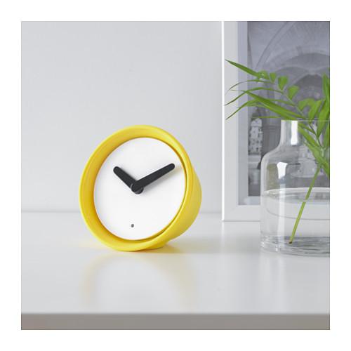 Ikea yellow Stolpa clock