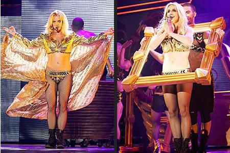 Britney Spears' Femme Fatale costumes: Hot