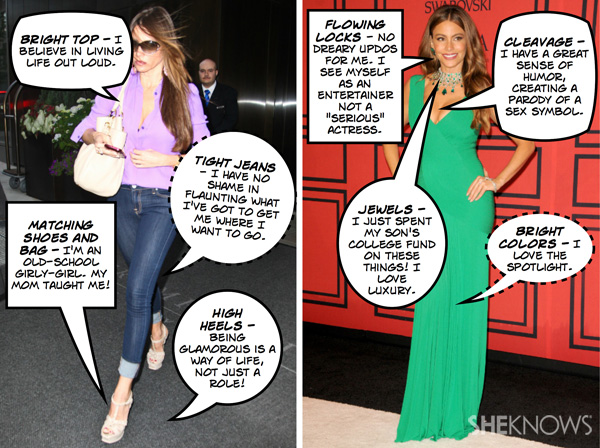 Sofia Vergara's everday look and red carpet fashion