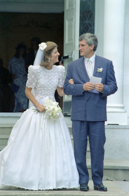 Caroline Kennedy and her husband Edwin leave Our Lady of Victory Church following their wedding