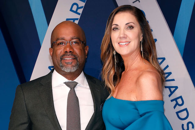 Darius Rucker and Beth Leonard attend the 51st annual CMA Awards
