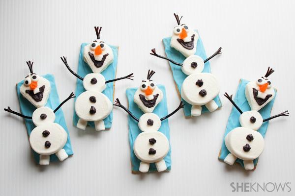 Olaf the Snowman snacks tutorial
