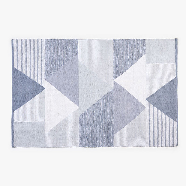 10 Zara Home Kids Pieces Adults Will Want, Too: Gray Patchwork Triangles Cotton Rug