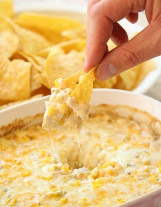 Food & TV Pairings: Cheesy hot corn dip