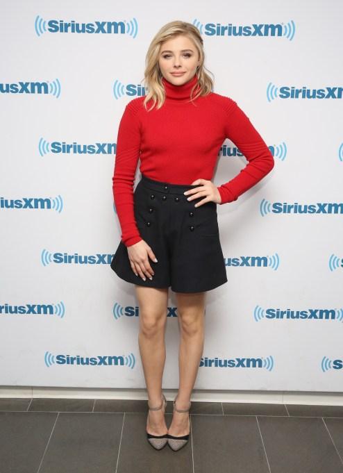 Chloe Grace Moretz black skirt