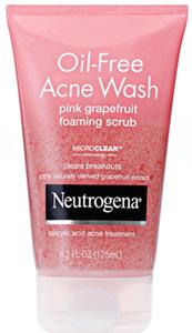 Neutrogena Oil-Free Acne Wash Pink Grapefruit Foaming Scrub, $8