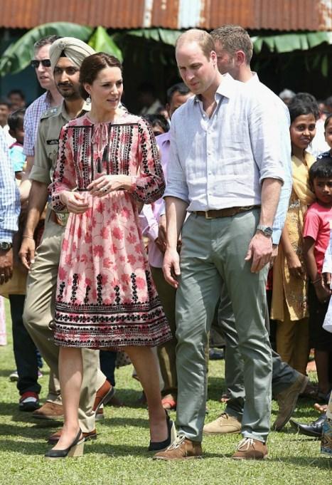 Kate Middleton's style on the royal tour of India