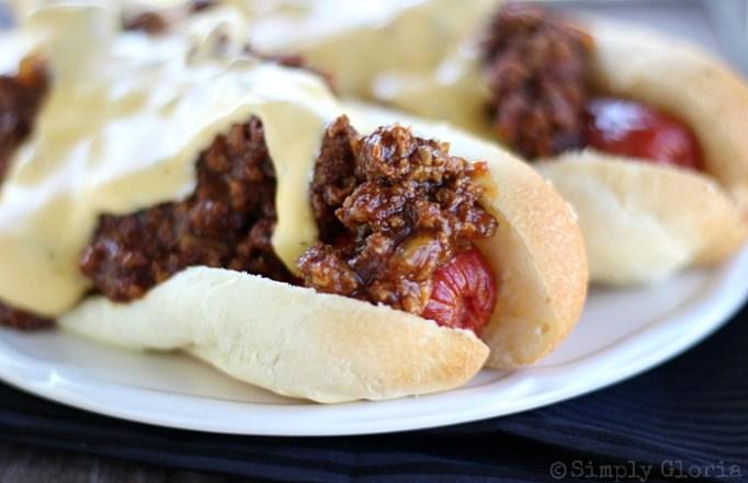 Best Super Bowl Snacks: Cheesy sloppy 'dogs