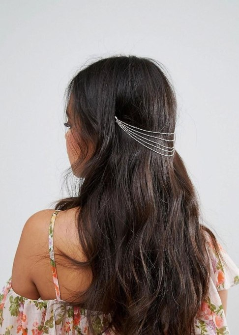 Accessories That Always Look Good on Short Hair | Layered Chains Back Head Crown at ASOS