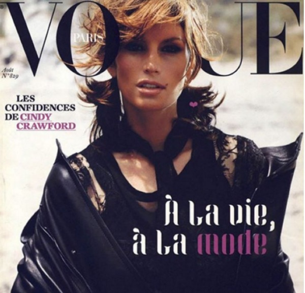 Cindy Crawford 'Vogue' cover