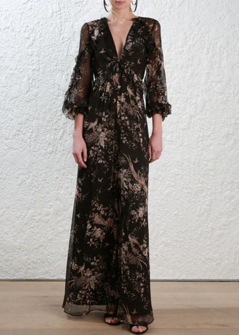 Best jumpsuits for the summer-to-fall transition: Zimmermann Maples Feathery Floral Jumpsuit | Fall Fashion 2017