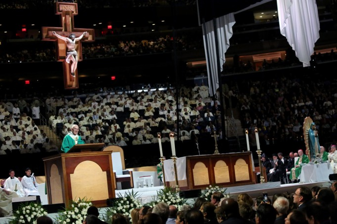 Pope Francis conducts Mass at Madison Square Garden
