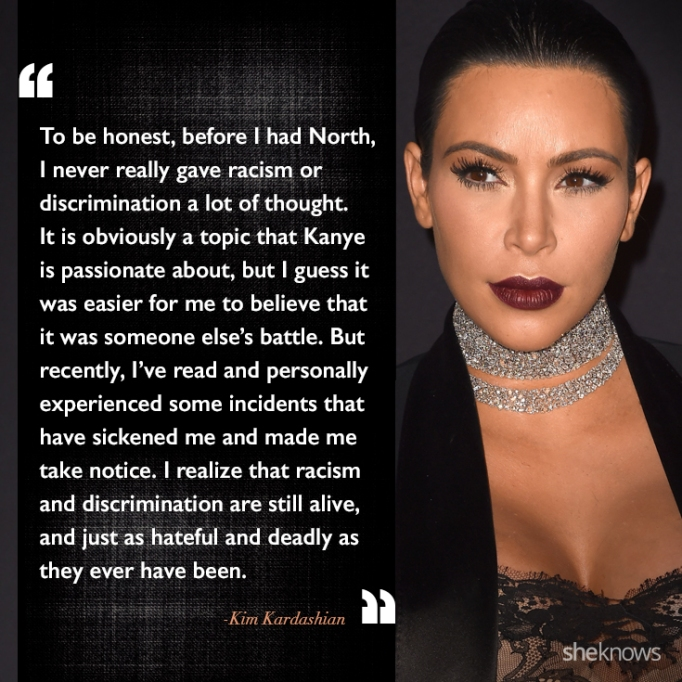Kim Kardashian race quote