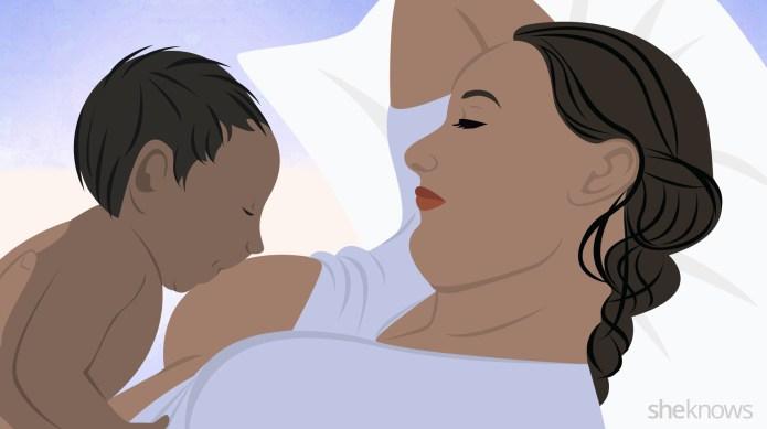 6 breastfeeding positions all new moms