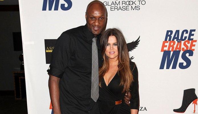 Lamar Odom bonds with Khloé &