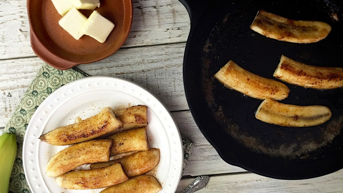 Brazilian-style fried bananas are all gooey
