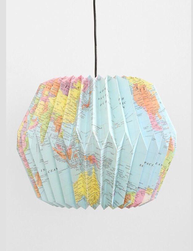 old-map-origami-lantern