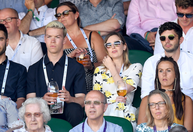 Will Poulter, Laura Carmichael and Michael Fox attend day one of the Wimbledon Tennis Championships