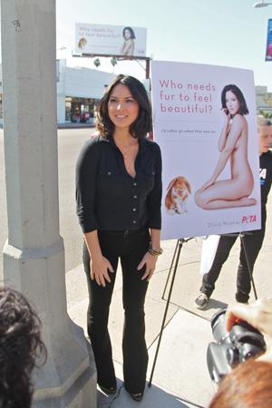 Olivia Munn PETA ad