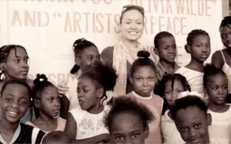 Olivia Wilde in Haiti