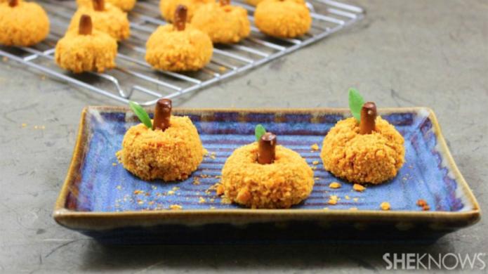 Spicy sweet potato pumpkin bites make