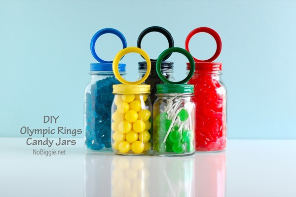 Olympic rings candy jars