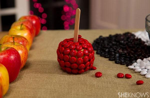 Chocolate-covered fallen apples