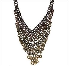 Wildlife by Heidi Klum Ombre Chain Bib Necklace