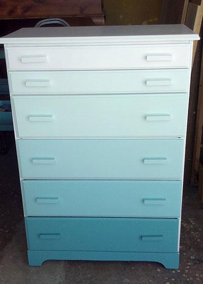 Ombre inspired dresser