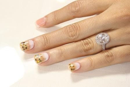 An ombre gel manicure