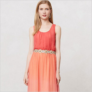Anthropologie ombre horizon dress