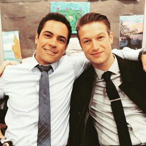 Danny Pino and Peter Scanavino pose for photo