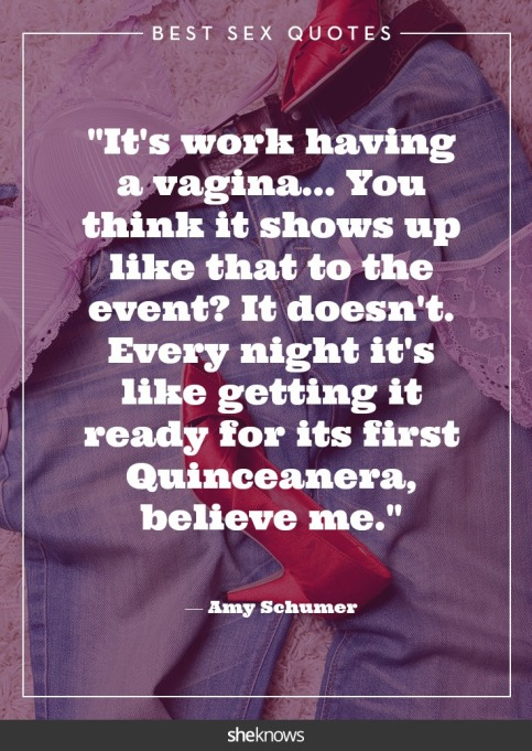 Steamy celebrity sex quotes: Amy Schumer