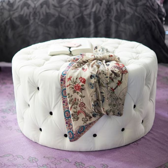 Anna Sui for PBteen: Rest easy with this plush velvet ottoman