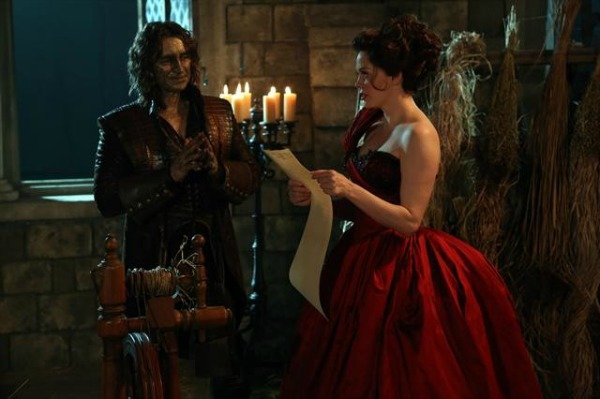 Rumplestiltskin and Young Cora in Once Upon a Time