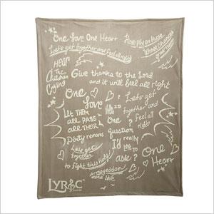 one love one heart blanket
