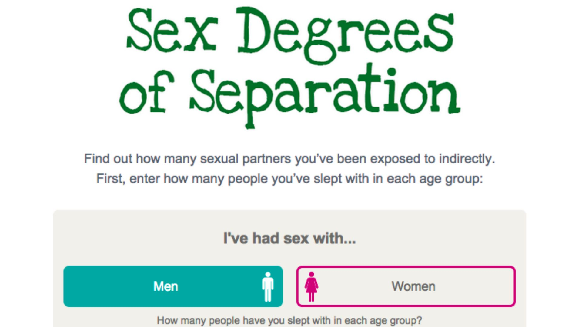 New calculator tool measures how many people you have indirect sexual links to
