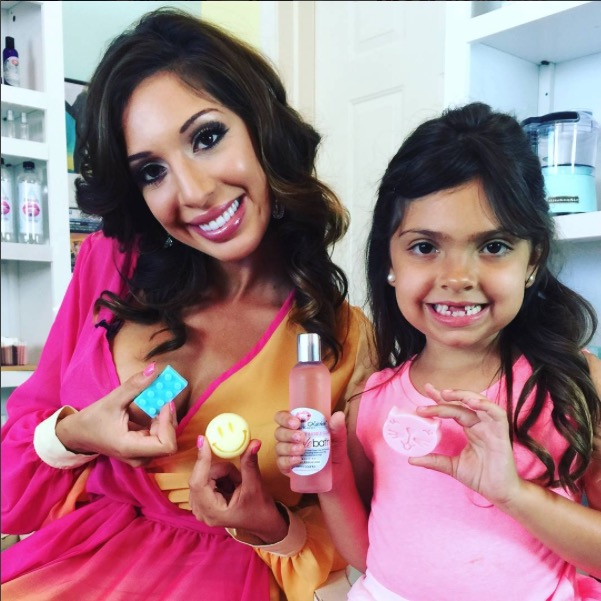 Teen Mom's Farrah Abraham and daughter Sophia with their new 'Mommy and Me' product line