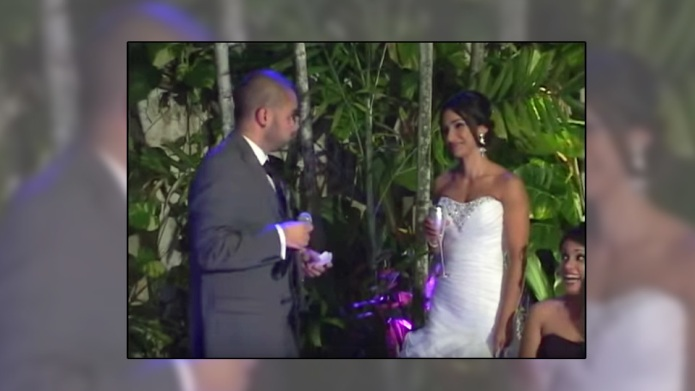 'Happiest groom alive' surprises his new
