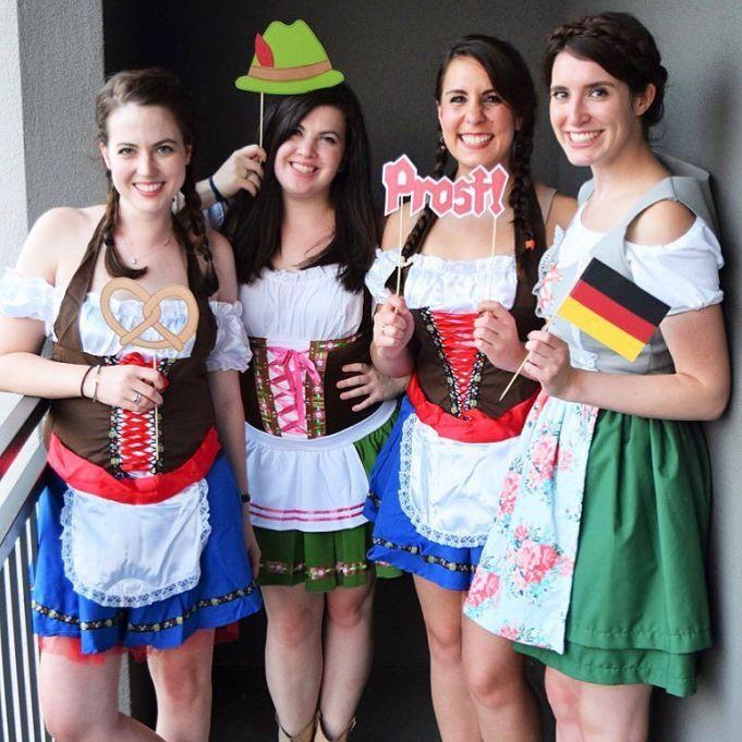 DIY Halloween Costume Ideas from Instagram: Oktoberfest Girls | Halloween 2017