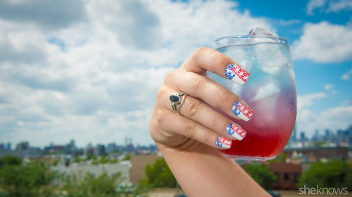 4th of July cocktails with festive