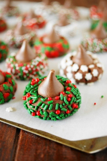 Kid-Friendly Holiday Desserts: These cookies are topped with peaks of luscious chocolate