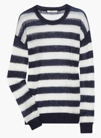 open-knit stripe winter sweater