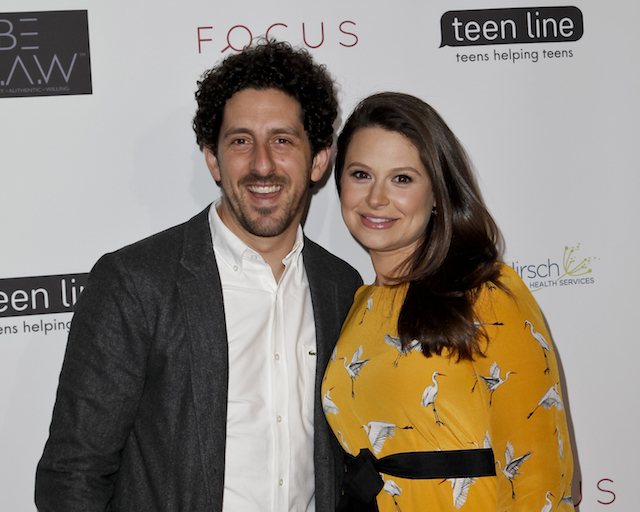 Adam Shapiro and Katie Lowes attend Teen Line's 'Food For Thought' Luncheon
