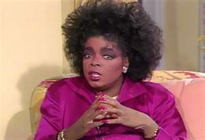 Oprah's '80s hairstyle