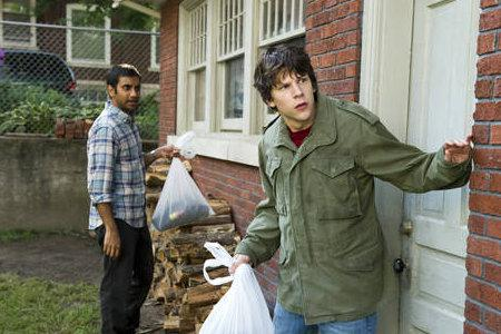Jesse Eisenberg makes a special delivery