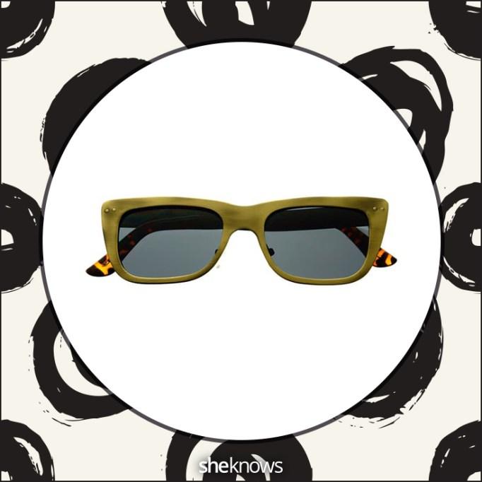 Celebrity fashion designer square sunglasses